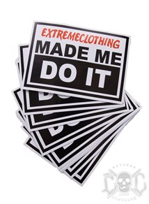 eXc Made Me Do It Sticker 10X7cm