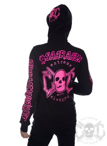 eXc Your Name Hoodie Pink