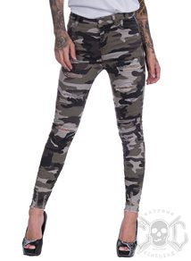 eXc Trashed Skinny Army Pants