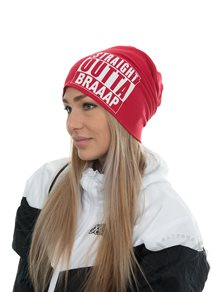 eXc Straight Outta Braaap Beanie, Red
